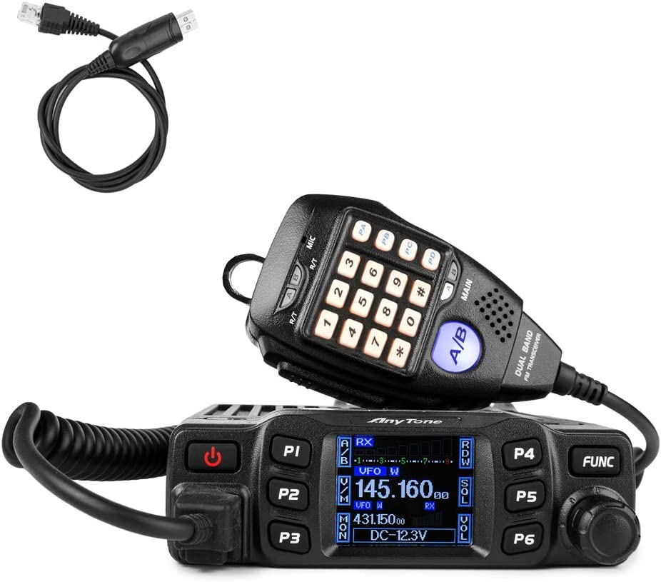 AnyTone AT-778UV Dual Band Transceiver Mobile Radio VHF//Uhf Two Way Amateur Radio