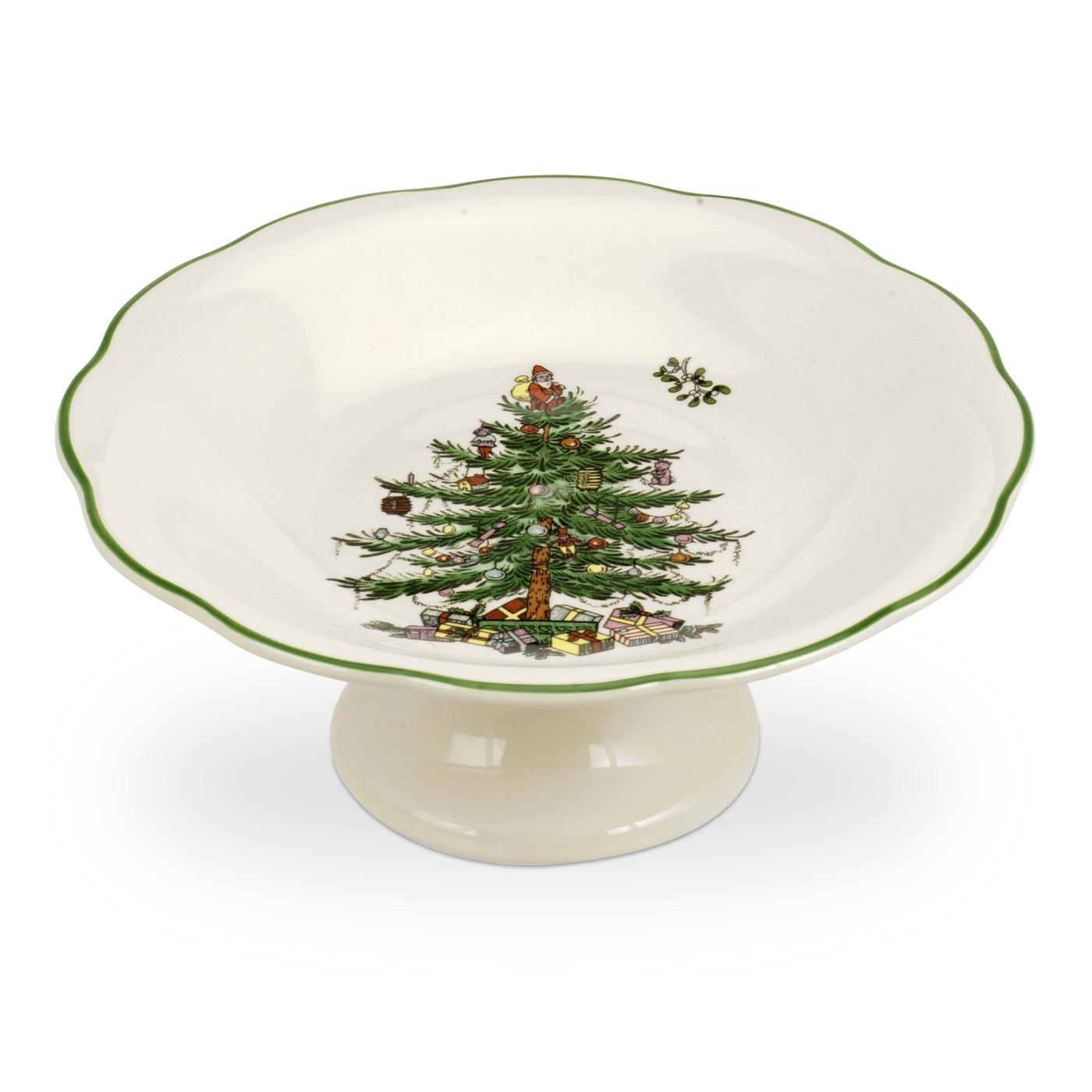 Spode Christmas Tree Sculpted Footed Candy Dish, 7-Inch Portmeirion USA 1536760