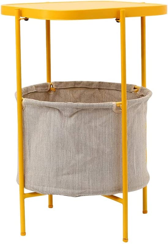 Grote Korting Metalen Salontafel Woonkamer Balkon Leisure Rack, Metalen Koffie Tabl Wasbaar Opbergmand 4.10 (Color : White) Yellow gpfL7o5