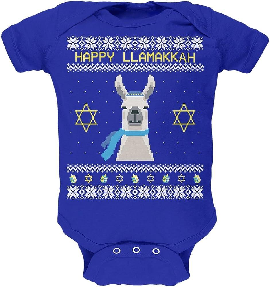 Animal World Llama Llamakkah Ugly Hanukkah Sweater Royal Toddler T-Shirt