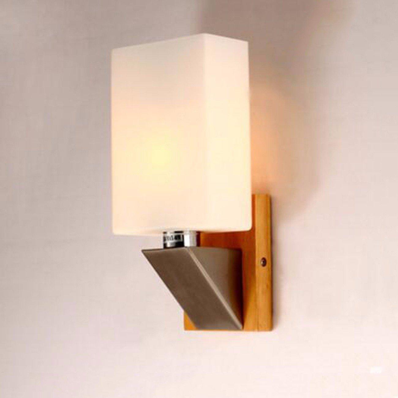 T-ZBDZ Log Schlafzimmer Nachttischlampe Wandlampe Stil original Holzwand Lampe