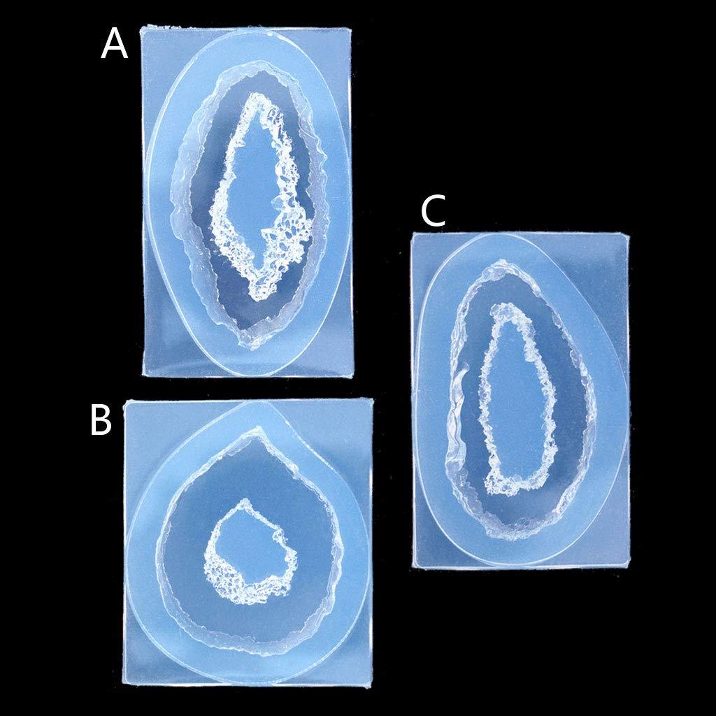 Silicone Mold Resin Jewelry Crystal Quartz Rock Cluster Geode Druzy Gem Pendant
