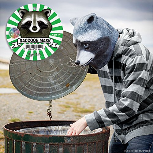 [Adult Latex Raccoon Mask] (Masked Bandit Costume)