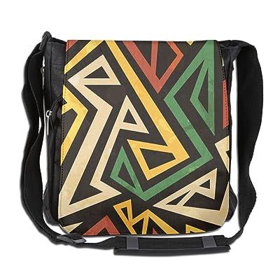 African Geometric Seamless Fashion Print Diagonal Single Shoulder Bag