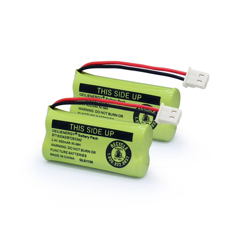 Geilienergy BT183342 BT283342 BT166342 BT266342 BT162342 BT262342 Battery Compatible with VTech CS6114 CS6419 CS6719 AT&T EL52300 CL80112 VTech CS6719-2 Cordless Handsets (Pack of 2)