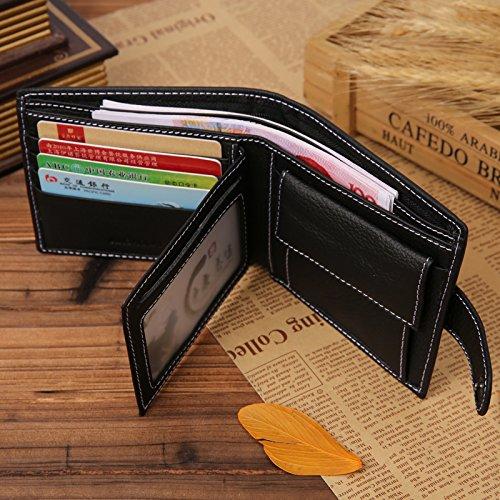 JINBAOLAI B002 Genuine Leather Wallet for Men