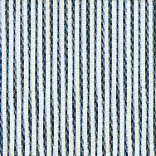 Stripe Blue Tailored Valance - Close to Custom Linens Tailored Valance in French Country Nautical Blue Ticking Stripe