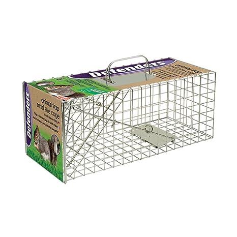 Defenders Animal Trap Cage - (Trampa humana fácil de colocar para ardillas y fauna silvestre