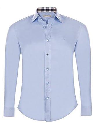 BURBERRY - Chemise Casual - Homme Multicolore Bleu Ciel M  Amazon.fr  Vêtements  et accessoires 1835b79f3f5