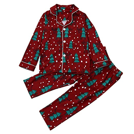 Baby Christmas Sleepwear ,UMFun For 2~5 Years old Kids Xmas Printed Pajamas Sleepwear