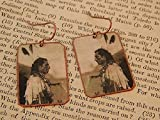 Native American earrings Native American jewelry mixed media jewelry Edward S Curtis