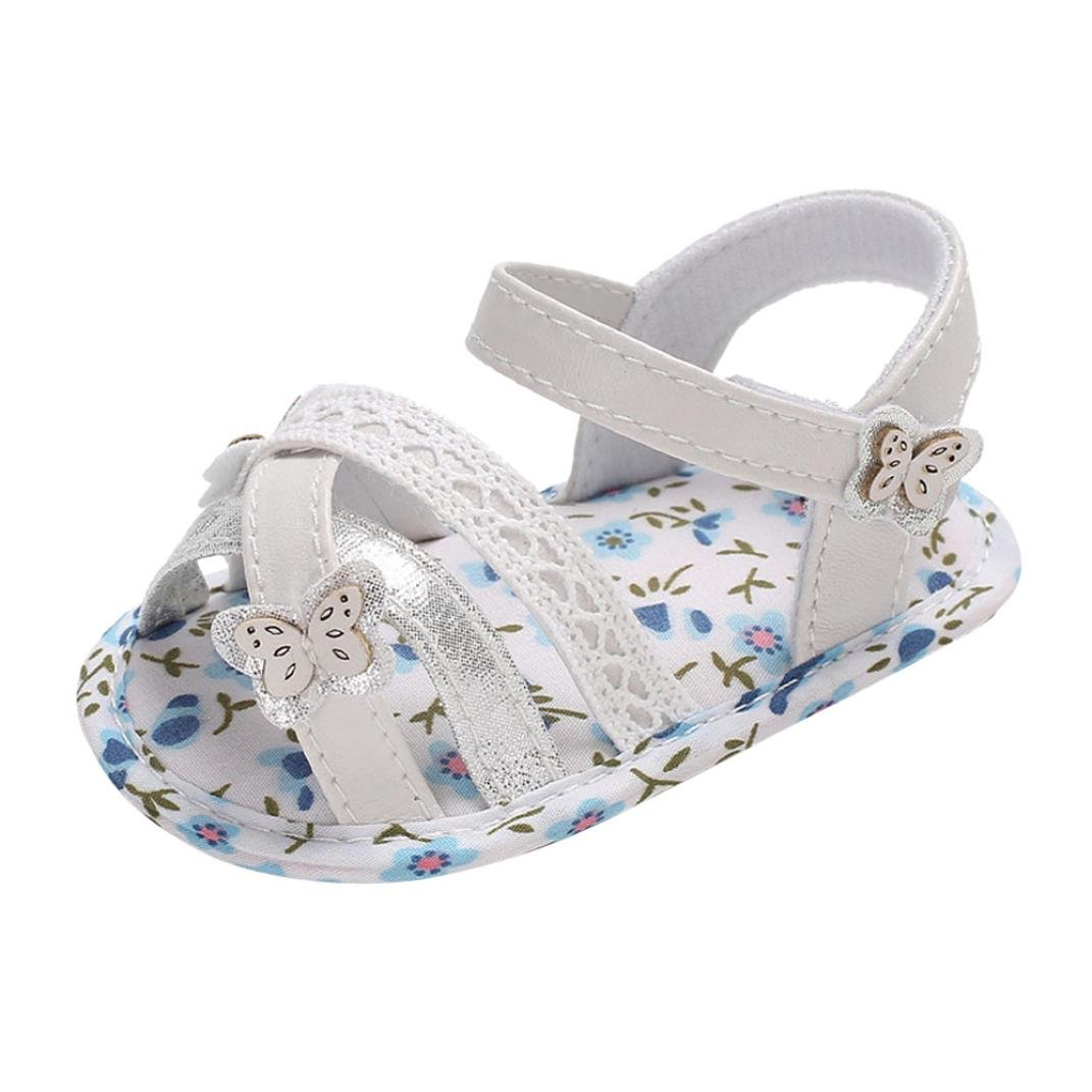 MONsin Princess Girls Sandals Summer Baby Infant Kids Girl Princess Bow-Knot Soft Sole Casual Sandals