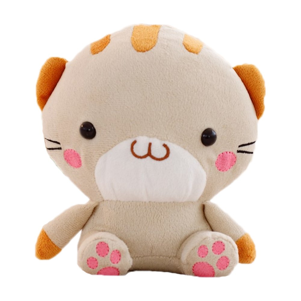 Cartoon Cute Cuddly Lovely Ins Animal Cat Stuffed 3D Pom Plush Lumbar Soft Big Hugging Figure Bolster Bed Sofa Cushion Nursery Home Decoration Baby Play Toy Sleeping Throw Pillow Wedding Gift