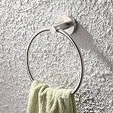 KES Bathroom Towel Ring Towel Holder SUS304 Stainless Steel Wall Mount, Brushed, A2180-2