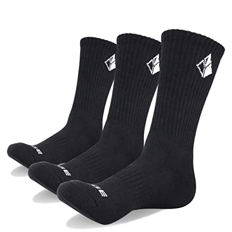 38a016bd988 YUEDGE 3 Pairs Men's Walking Socks Cushion Breathable Trekking Socks  Outdoor Winter Thermal Warm Socks (