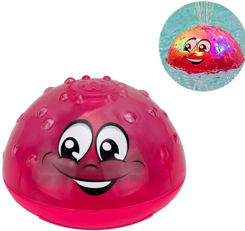 Amasawa Juguete de Baño Flotante para Bebés,Electric Induction Spray Ball Light Bathroom Infant Kids Water Bath Play Toy,Aspersor Eléctrico Infantil Lindo Water Polo