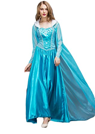 Amazoncom Quintion Norris Winter Elsa Snow Party Queen Dress Up