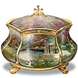 Bradford Exchange Ardleigh Elliott Thomas Kinkade Garden of Prayer Faith Music Box