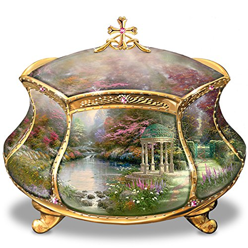 Thomas Kinkade Jewelry (Thomas Kinkade Garden of Prayer Faith Music Box by Ardleigh Elliott)