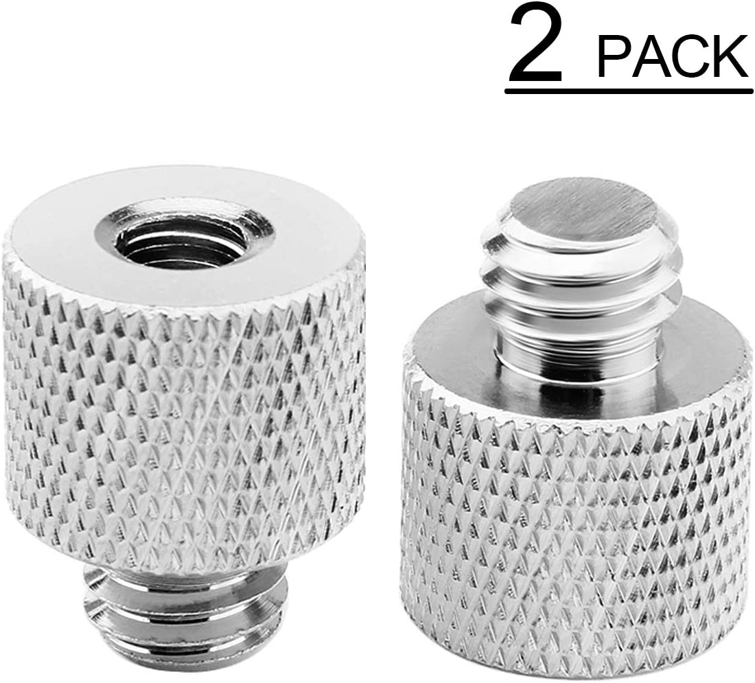 Impact Female 1//4-20 to Male 3//8 Thread Adapter 2 Pack