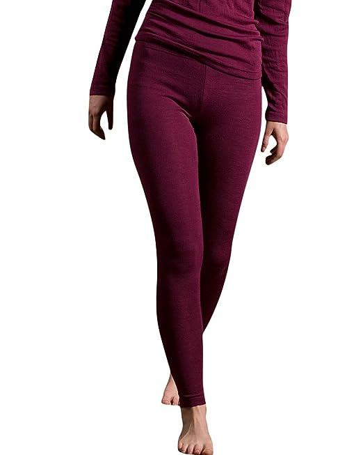 Engel GmbH - Womens leggings térmico en forma de luz de oveja merina orgánica lana y