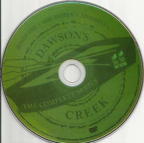 Dawson's Creek the Complete Series Disc 16 Containing Season 5 Episodes 1-6 Replacement Disc!