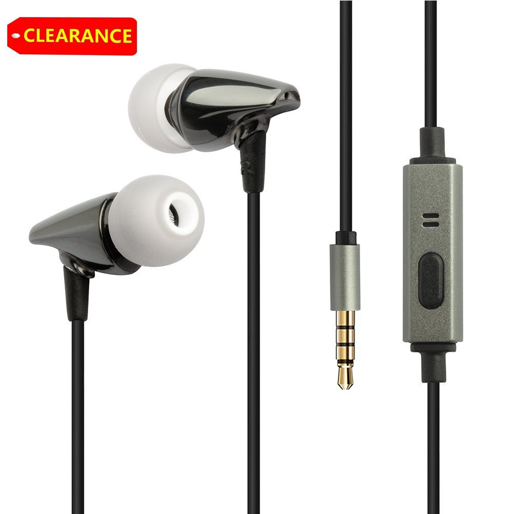 Noise Cancelling Earphones, YCCTEAM Wired Stereo Bass In-ear Earbuds Headphones with Microphone For Apple iPhone iPod iPad Android MP3 Player Ear Canals 3.5 mm Interface
