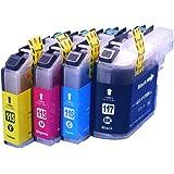 インクのチップスオリジナル製品 ブラザー用 互換インクカートリッジ大容量タイプ 4色パック LC117/115-4PK用互換インク フラストレーションフリーパッケージ FFP