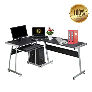 Dripex wood l shape round corner computer desk pc table laptop dripex wood l shape round corner computer desk pc table laptop workstation for home or watchthetrailerfo
