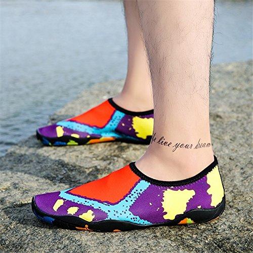 transpirables yoga Zapatos zapatos suela la la de natación descalzos zapatos de cómodos gruesa zapatos de aptitud elásticos de zapatos A playa de aguas arriba de qrIwrH