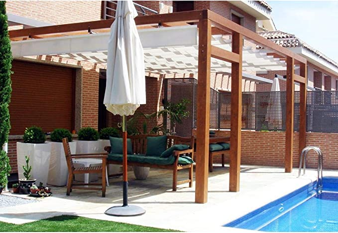Pergola de Madera Modelo Granada Plimfers 500x400 cm: Amazon.es: Hogar