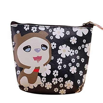 LUFA Cute Animal PU Impermeable Moneda Bolsas Zipper Zero Cartera Niños Niña Mini Coin Key Card