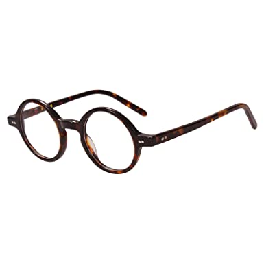 63a2c9238db Image Unavailable. Image not available for. Color  Agstum 42mm Handmade  Vintage Retro Round Optical Eyeglass Frame
