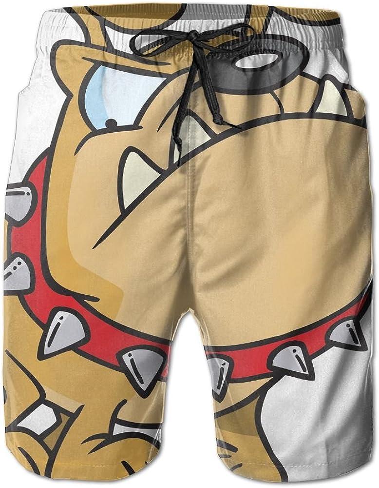 Sunshine Bulldog Mens Beach Shorts Elastic Waist Pockets Lightweight Swimming Board Short Quick Dry Short Trunks