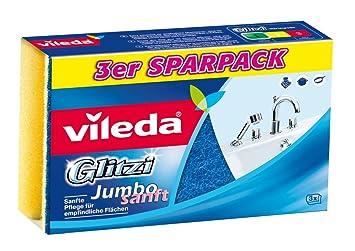 Vileda Glitzi Jumbo Sanft /Éponge douce pour grandes surfaces sanitaires