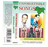 UNFORGETTABLE SONGS - Original Artists (Judy Garland, Glenn Miller, Tony Bennett, Fats Domino, Nat King Cole, Louis Armstrong, Al Jolson, Jerry Lee Lewis, Diamonds, Platters) CASSETTE