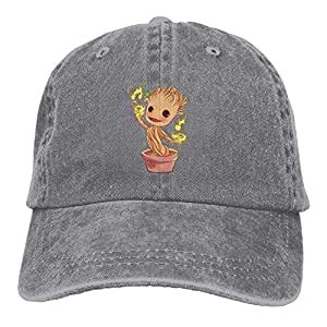 ONGH Dancing Groot Denim Hat Gorras de béisbol Ajustables para ...