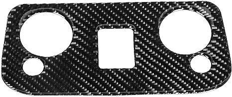 Goregri Couverture de garniture de panneau de commande de lampe de lecture de voiture en fibre de carbone adapt/ée pour 2015-2019 conduite /à gauche