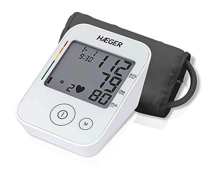 HAEGER DIGI HEART - Tensiómetro de brazo, medidor de Presión Arterial Automática, 30 Memorias