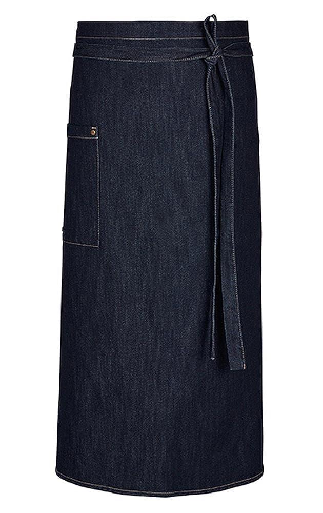 Greiff Bistro-Schü rze | Denim | Baumwolle | One Size | Farbe: Blau Denim 100x80 cm 41261