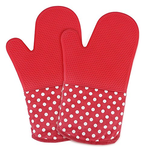 oven mitt, silicone oven mitts, pizza oven mitt, oven mitts pair, oven mitts for women, oven mitts heat resistant, Non-slip Silicone Potholder for Cooking, Baking, Grilling, Holding Pot, ()