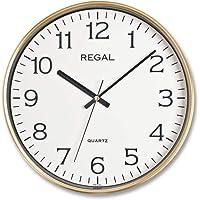 Regal Ultima İnce Yaldız Çerçeve Slim Sessiz Akar Ofis Ev Tipi Klasik Duvar Saati