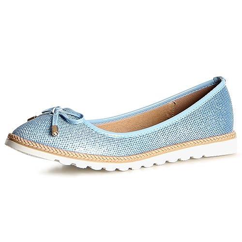 Topschuhe24 - Chaussures Pour Femmes, Bleu, Taille 38
