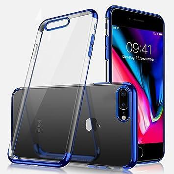 SainCat Funda iPhone 7 Plus/8 5.5 Inch, Espejo Funda iPhone 7 Plus/8 TPU Silicona Carcasa Suave TPU Galvanoplastia Caso Ultra-Delgado iPhone 7 Plus/8 ...