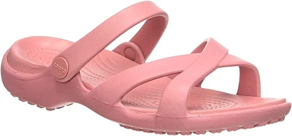Crocs Women's Meleen Crossband Sandal Open Toe,Crocs