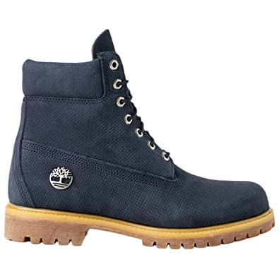 ebeae57f6a9d Image Unavailable. Image not available for. Color  Timberland Mens 6  Premium Nubuck Navy Boots ...