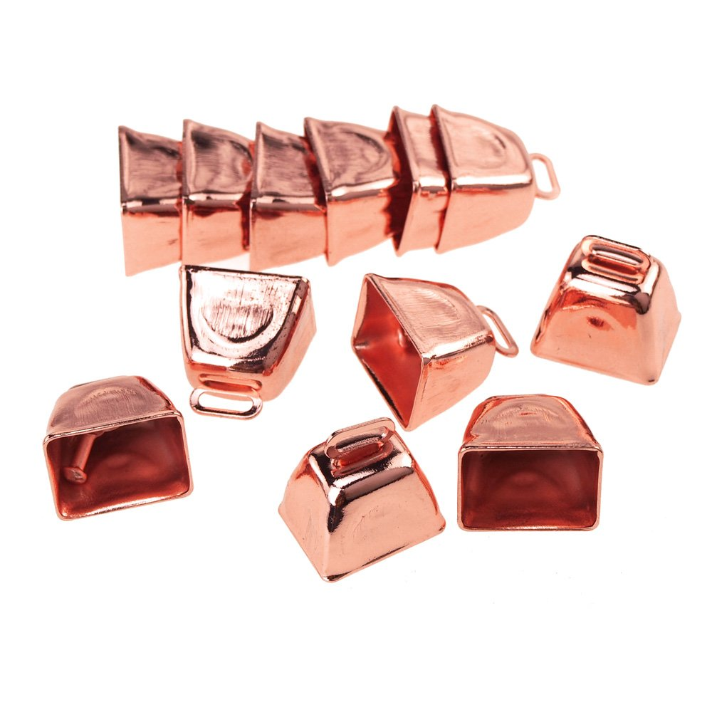 Homeford Small Metal Cowbells, Rose Gold, 1-Inch, 12-Piece