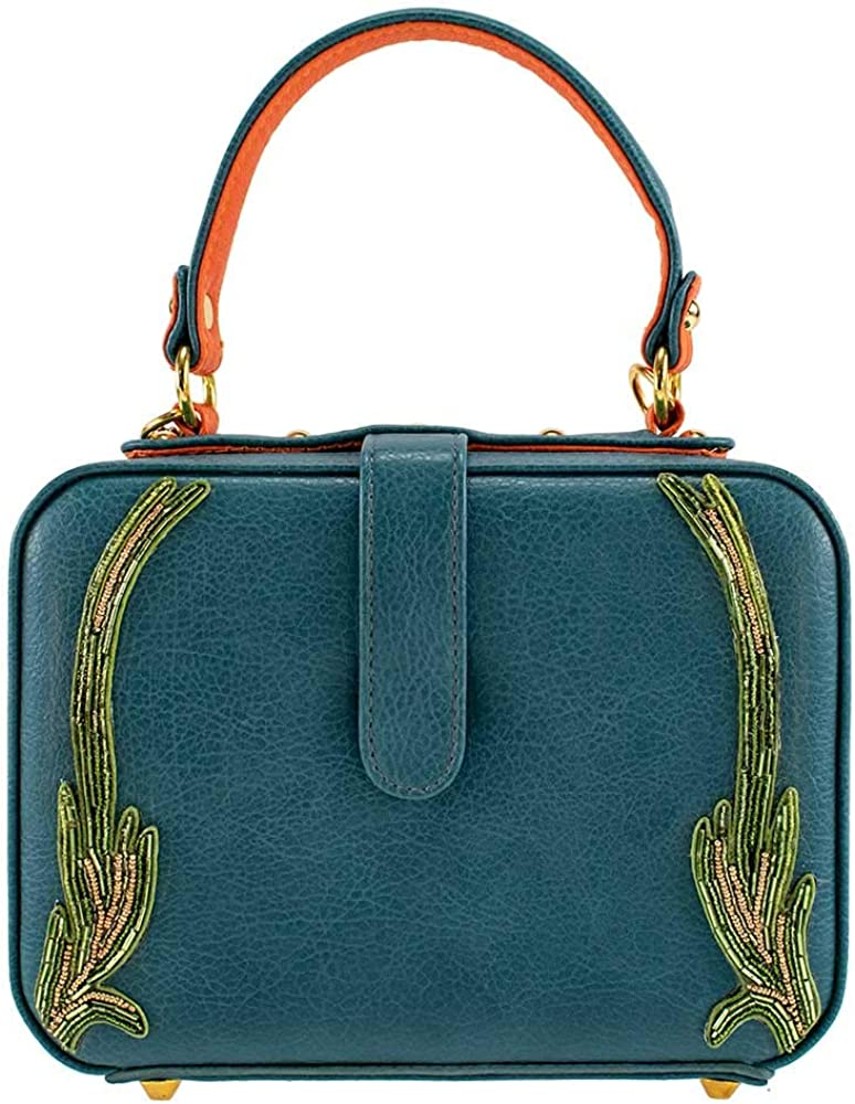 Multi Mary Frances Good Fortune Womens Beaded Top Handle Bag
