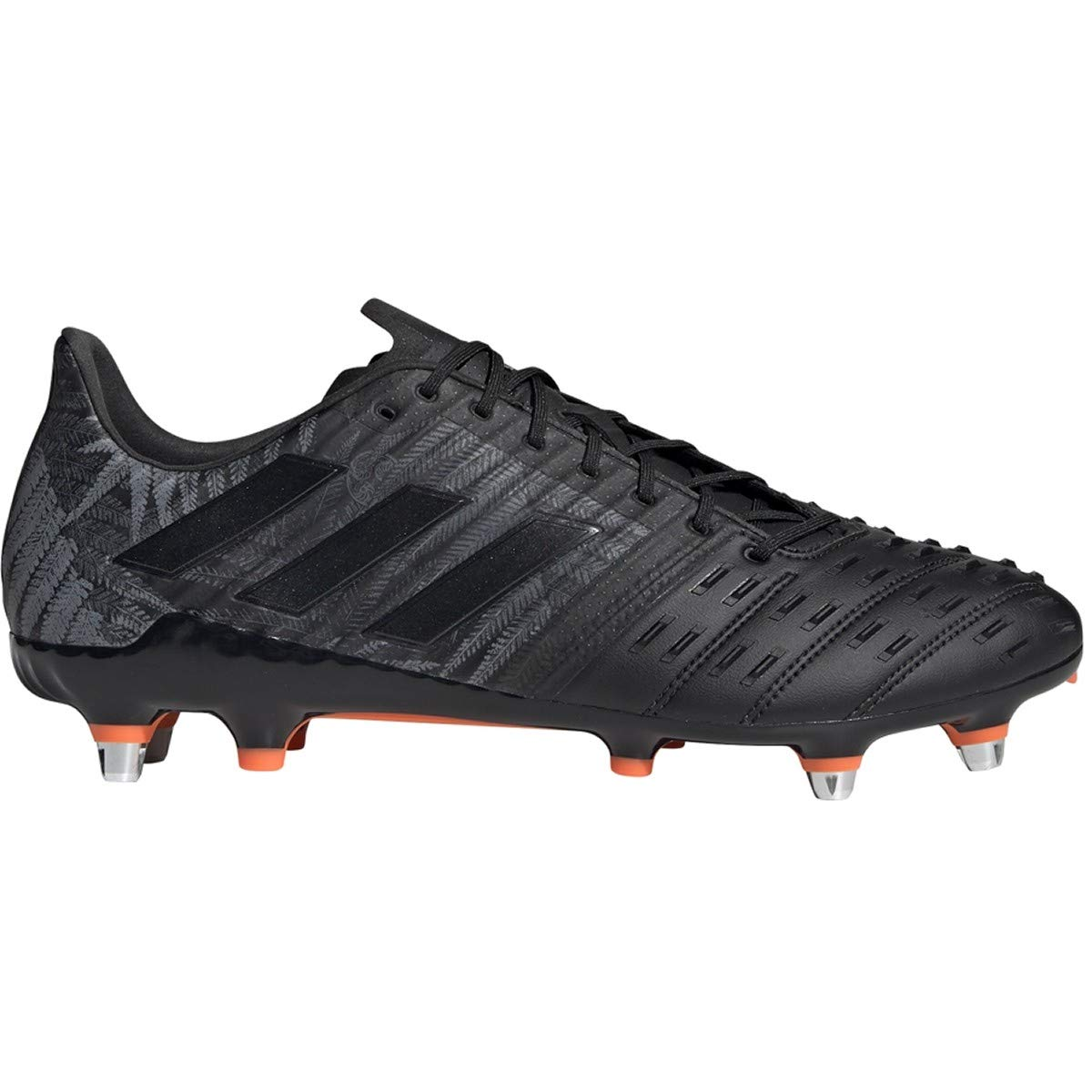 adidas Predator Malice Control SG Cleat - Men's Rugby Core Black/Solar Orange/White by adidas