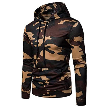 WaiiMak Hoodie Coat for Man, 2019 Mens Autumn Casual Camouflage Long Sleeve Pullover Sweatshirt (